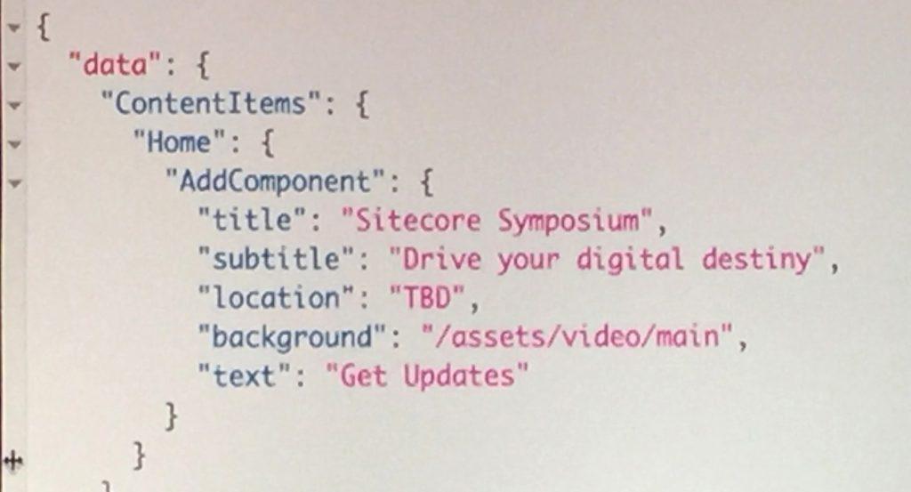 Foto presentatie Sitecore Symposium